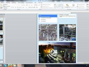 company search, description, search contacts, etc.