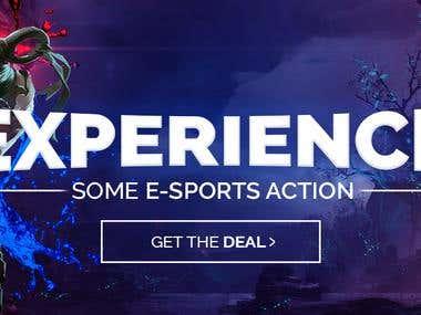 E-sports banner