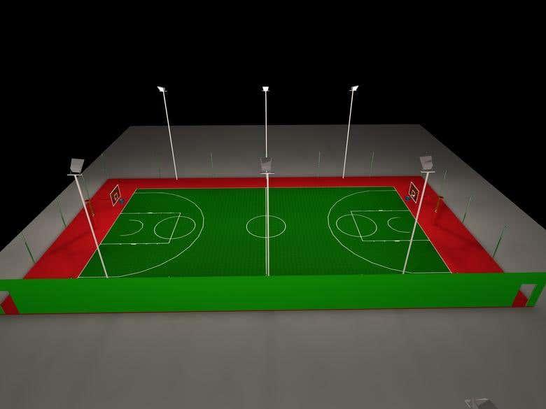 Outdoor basketball court lighting design freelancer