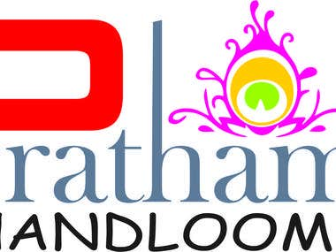 Hand-loom Shop logo design