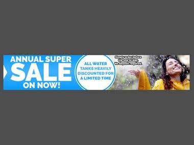 Annual Super Sale Banner Design