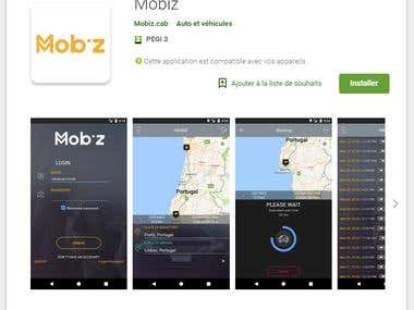 Mobiz Application for Android
