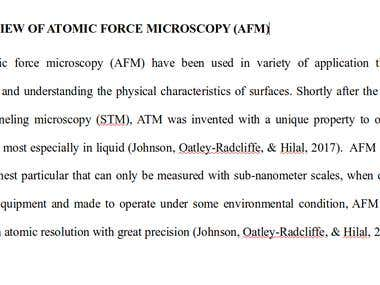 HIGH SPEED (HS) ATOMIC FORCE MICROSCOPY (AFM)