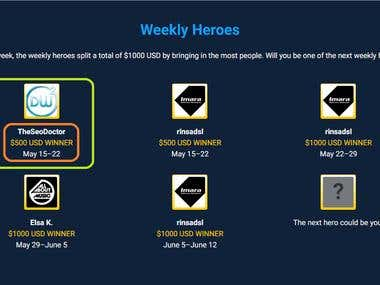 Hero Award of the Week