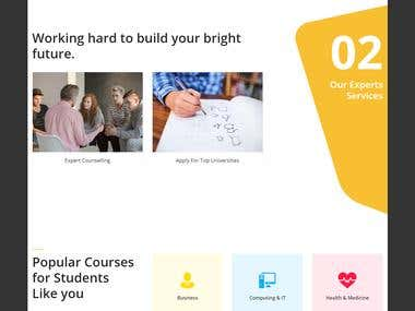 Design & develop One student portal website HTML/ WordPress
