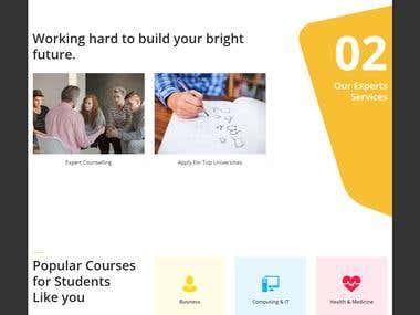 Design & develop One student portal website HTML/ WordPress