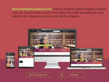 online courses website in Codeigniter
