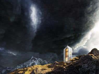Iceland. Storm