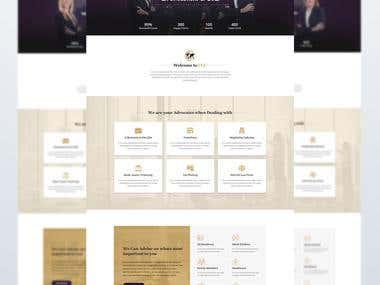 Design a Website Mockup (PSD) for a startup legal