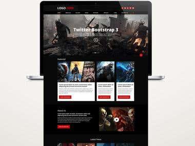 Design a Website Mockup and Logo