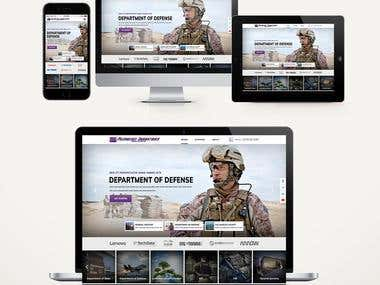 Design and Develop a website for a Defense Contract