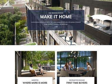 Real Estate Landing Page For New Development