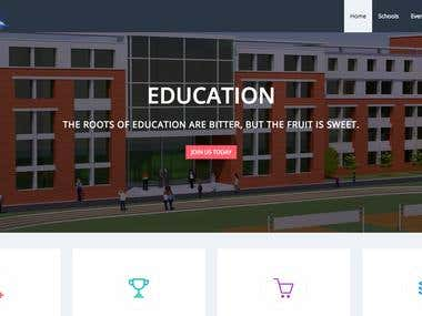 School promoting website