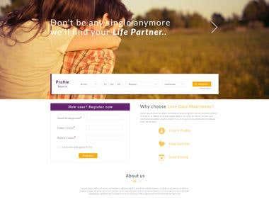Matrimonial Website Design