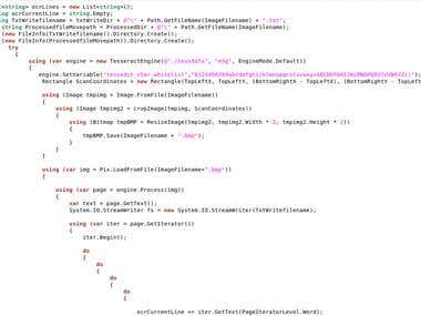 Image manipulation and OCR in C#