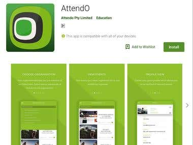 Attendo android application