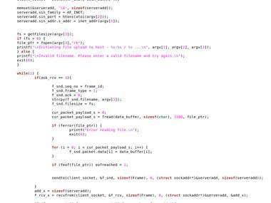 C Network/Socket programming