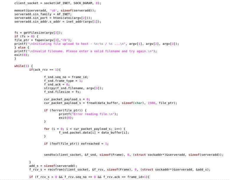 C Network/Socket programming | Freelancer