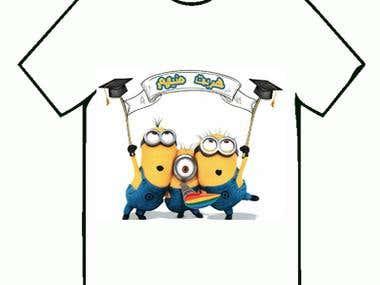 Menions Graduation T-shirt Design