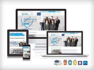 Recruitment company website designed & developed