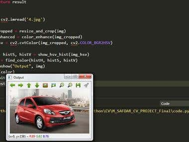 Car Color Classification using Python OpenCV