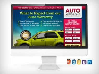 Sales/Landing Page - Auto Warranty