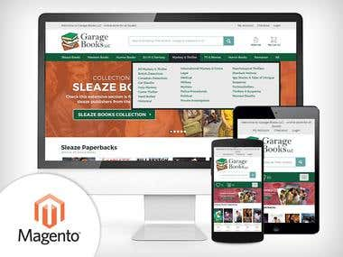 Magento - eCommerce website selling Books online.