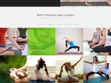 Yoga site design