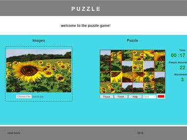 Puzzle Game Using Pure JavaScript.