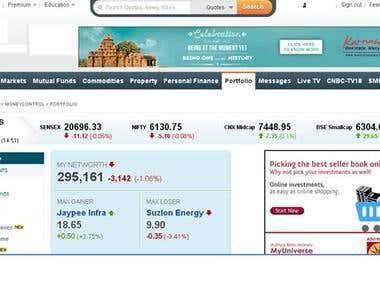 Finance domain  website tested