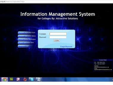 Information Management System for My College