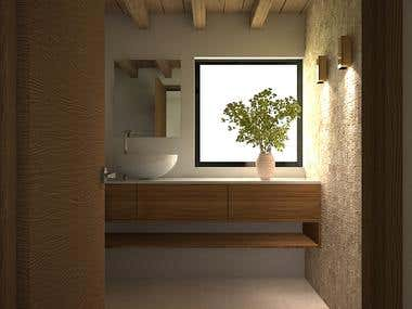 Bathroom design and render