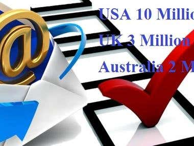 There are several E-mail lists for sale in different countri