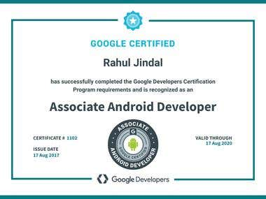 Google Associate Android Developer Certificate