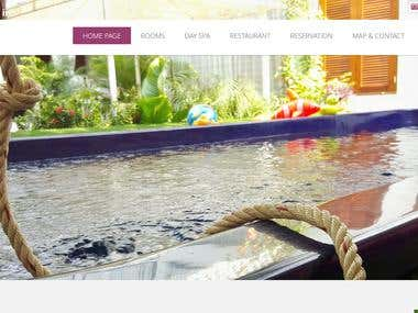 Hotel Website Mockup