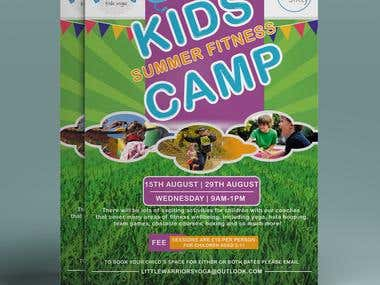 A4 size flyer (Summer Camp)