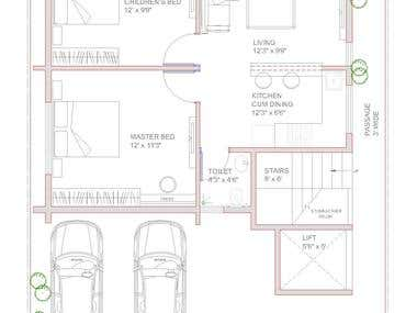 Small house Auto Cad Drawings 1