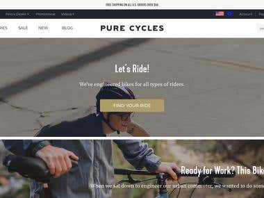 Bicycle Selling Website and Blog