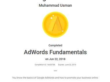 Adwords Fundamentals Certified
