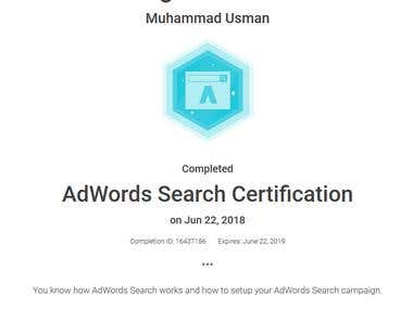 AdWords Search Certified