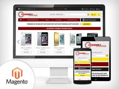Magento - eCommerce website selling mobile phones online
