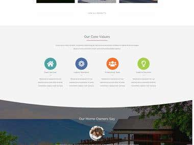 Wordpress website for Construction company