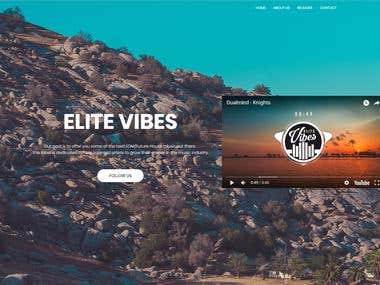 Elite Vibes website