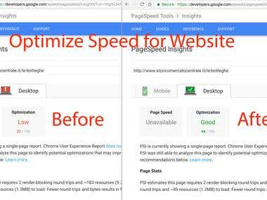 Optimizations speed for Website.