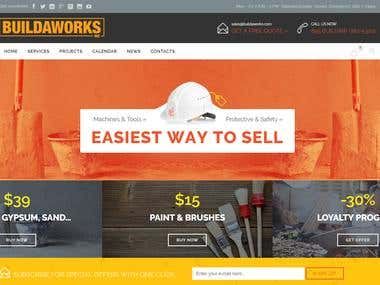 BUILDAWORKS construction company by wordpress