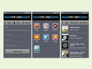 Android App for Mainframe Radio