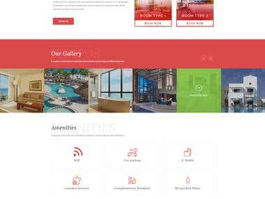 Marvel Hotel web layout