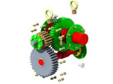 Worm and Wormwheel Gearbox