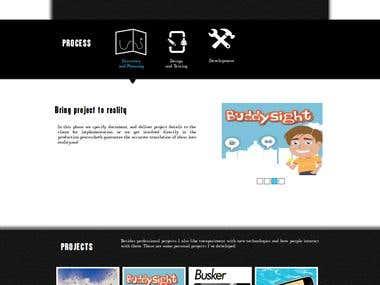 Onepage Website