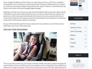 What to Do If Child Wants to Be Seated Outside of Car Seat